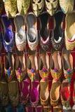 Colorful arabic shoes. In Souk Dubai, United Arab Emirates Stock Photo