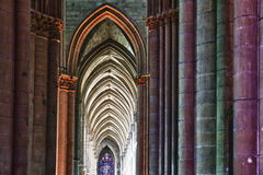 Colorful arches in a church Stock Images