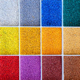 Colorful architect sample of color stones Stock Image