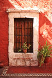 Colorful architecture details, Cuzco, Peru. Royalty Free Stock Image