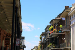 Colorful architecture in the French Quarter in New Orleans Royalty Free Stock Photography