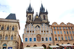 Colorful architecture at the Old Town Square in Prague Royalty Free Stock Photo