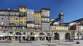 Colorful architecture from Oporto Ribeira Stock Photography