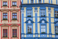 Colorful architecture of Prague. Royalty Free Stock Images