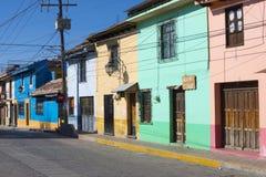 Colorful architecture of San Cristobal de las Casas, Chiapas Royalty Free Stock Images