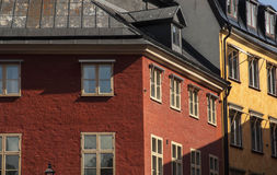 Colorful architecture in Stockholm Royalty Free Stock Photography