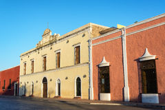 Colorful Architecture in Valladolid, Mexico Royalty Free Stock Photo