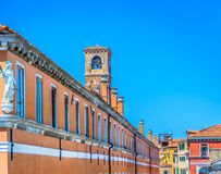 Colorful architecture in Venice, famous places. royalty free stock images