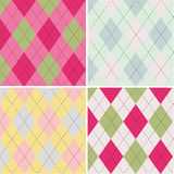 Colorful argyle pattern seamless pattern fabric texture Stock Photography