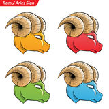 Colorful Aries Zodiac Star Signs Sketch Stock Photos