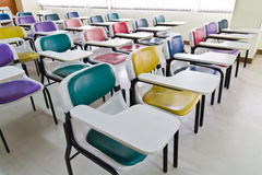 Colorful armchairs in class room Stock Photo