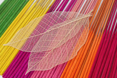 Colorful aroma  incense sticks for spa treatment Stock Photography