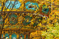 A colorful сarousel in amusement park. Royalty Free Stock Photography