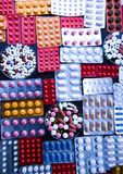 A colorful array of drugs Stock Images
