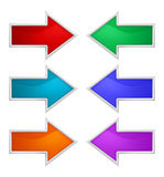 Colorful arrow Stock Photography