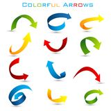 Colorful Arrow. Easy to edit vector illustration of set of colorful arrow stock illustration