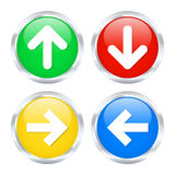Colorful arrow buttons. Set of arrow buttons. Vector illustration Royalty Free Stock Photography