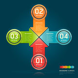 Colorful arrow circle number options banner. Stock Photo