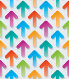 Colorful arrow 3d wallpaper. Royalty Free Stock Photo