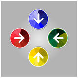 Colorful arrow icon Royalty Free Stock Images