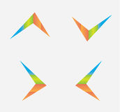 Colorful arrow icons. For any use Royalty Free Stock Photos