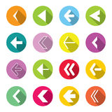 Colorful Arrow Icons Set Royalty Free Stock Images
