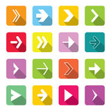 Colorful Arrow Icons Set Stock Images