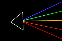 Colorful arrow, LED light effect Royalty Free Stock Photo