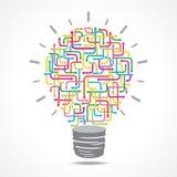 Colorful arrow light-bulb Stock Photo
