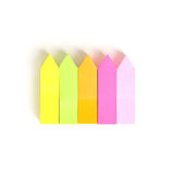 Colorful arrow memo stick Royalty Free Stock Image