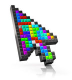 Colorful arrow mouse computer cursor Royalty Free Stock Images