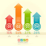 Colorful arrow number options banner. Stock Photography