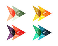 Colorful arrow option infographics banners, business geometric templates. Colorful arrow option infographics banners, business geometric universal templates Royalty Free Stock Image