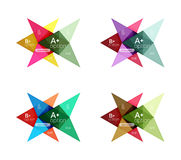Colorful arrow option infographics banners, business geometric templates Royalty Free Stock Photo