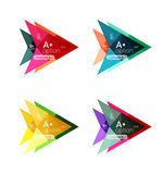 Colorful arrow option infographics banners, business geometric templates. Colorful arrow option infographics banners, business geometric universal templates Royalty Free Stock Photo