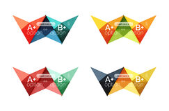 Colorful arrow option infographics banners, business geometric templates. Colorful arrow option infographics banners, business geometric universal templates Stock Photography