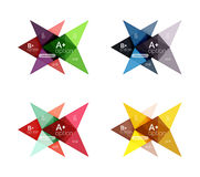 Colorful arrow option infographics banners, business geometric templates Royalty Free Stock Images