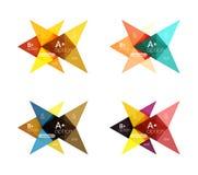 Colorful arrow option infographics banners, business geometric templates Stock Photos