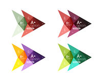 Colorful arrow option infographics banners, business geometric templates Royalty Free Stock Image