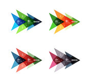 Colorful arrow option infographics banners, business geometric templates. Colorful arrow option infographics banners, business geometric universal templates Stock Image