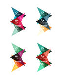 Colorful arrow option infographics banners, business geometric templates Stock Photography