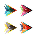 Colorful arrow option infographics banners, business geometric templates Stock Photo