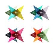 Colorful arrow option infographics banners, business geometric templates Stock Image