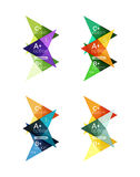 Colorful arrow option infographics banners, business geometric templates Royalty Free Stock Photos