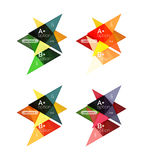 Colorful arrow option infographics banners, business geometric templates Stock Images