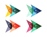 Colorful arrow option infographics banners, business geometric templates. Colorful arrow option infographics banners, business geometric universal templates Stock Illustration