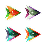 Colorful arrow option infographics banners, business geometric templates. Colorful arrow option infographics banners, business geometric universal templates Royalty Free Illustration
