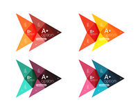 Colorful arrow option infographics banners, business geometric templates. Colorful arrow option infographics banners, business geometric universal templates Royalty Free Stock Photos