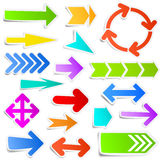 Colorful arrow set Royalty Free Stock Photo