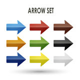 Colorful arrow set collection Royalty Free Stock Image